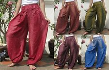Funky Harem Wide Leg Yoga Pants Trousers Free Size Beach Dance Boho Bohemian