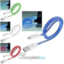 3FT Visible LED Light Micro USB Charger Data Sync Cable For Samsung Galaxy S5