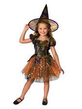 Elegant Witch Fancy Dress Costume Halloween Child Kids Girls Female 1-7 Years BN