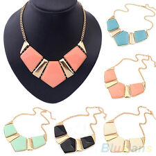Fashion Gems Vintage Bib Statement Necklace Chain Chunky Collar Party BF8U