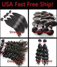 USA Ship! 100% Indian Remy Human Hair Black Body Wave weft Extension Bundle *1