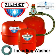 ZILMET ITALY RED CENTRAL HEATING EXPANSION VESSEL 8 12 18 24 LTR + KIT / BRACKET