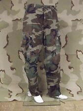 Woodland Trousers BDU Camouflage Pants U.S.Army Surplus Rip-Stop NyCo Good Cond.
