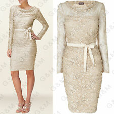 PHASE EIGHT Oyster Jemma Lace Dress Vintage Summer Wedding Tea Party 8 RRP £130