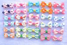 Value Pack 30pcs Girls Ribbon Grosgrain Hair Bow Clips Baby Hairpins Barrettes