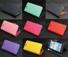 Deluxe Wallet Leather Flip + Tpu Skin Case Cover For Samsung Galaxy Ace 3 S7272