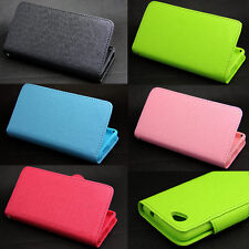 Button Wallet Leather Flip + Tpu Skin Case Cover For Sony Xperia Z1 Compact Mini