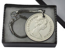 10P OLD STYLE COIN KEYRING CHOICE OF DATE 1968-1981 BIRTHDAY PRESENT / GIFT