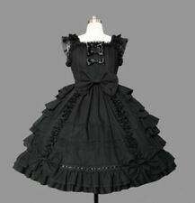Ladies Sweet Cotton Lace Chiffon Layered Cosplay Lolita Dress Costume 7 Colors