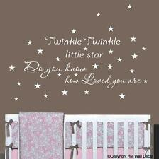 """TWINKLE TWINKLE LITTLE STAR.."" Wall Art Removable Wall Sticker for Nursery/kids"