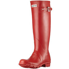 HUNTER ORIGINAL TALL RED WELLINGTON BOOTS  Welly Red NWT BN