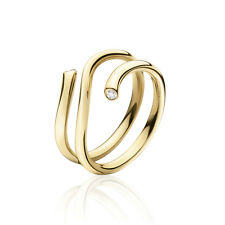 Georg Jensen Gold Ring w/ Diamonds - Magic #1513 A
