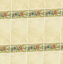 Dolls House Wallpaper 1/12th 1/24th scale Bathroom Marble Tiles Quality #15T