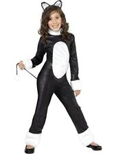 SALE! Kids Animal Cool Cat Girls Halloween Fancy Dress Party Costume Outfit