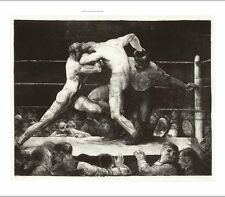 """GEORGE BELLOWS """"A Stag at Sharkey's"""" BOXING on canvas various SIZES, BRAND NEW"""