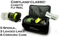 Cortland CLASSIC Cassette Fly Fishing Reel & 3 LOADED FLY LINES (RRP £149!!)