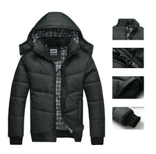 2017 Men's Winter Warm Thicken Stand Collar Jacket Outwear Coat Parka  Black