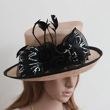 New Woman Church Kentucky Derby Wedding Cocktail Party Sinamay Dress Hat 712