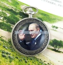Russian Putin President Prime Minister Mens Automatic Mechanical Pocket Watch SS