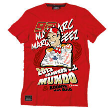 """Official Marc Marquez 93 """"Rookie Del Ano"""" Moto GP Champion T-Shirt Red"""