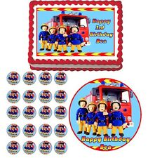 FIREMAN SAM  Edible Birthday Party Cake Topper Cupcake Image Decoration