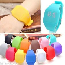 Ultra-Thin Boy Girl Touch Screen LED Digital Silicone Sport Watch Wristwatch Hot