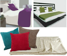 Chenille Cushions & Throws Super Soft Throw Blankets, Small Large Cushion Covers