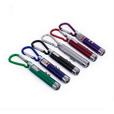 2 in 1 Red Laser Pointer LED Torch Keychain Pointer Pen Beam Cat Toy Flashlight
