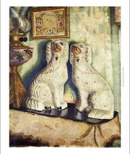DORA CARRINGTON Staffordshire Dogs ORNAMENTS home mantelpiece NEW CANVAS PRINT