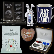 FATHERS DAY GIFTS PRESENT PLAQUE CRYSTAL SET FRAME MUG SPECIAL DADDY DAD GRANDAD