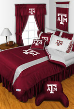 TEXAS A&M AGGIES SIDELINES COMFORTER AND SHEET SET COMBO - 19-0639-combo