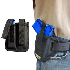 New Barsony Ambi Pancake Holster + Dbl Mag Pouch CZ EAA Compact 9mm 40 45