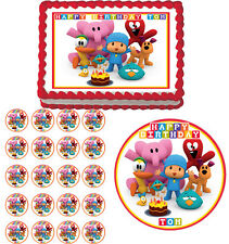 POCOYO Edible Cake Topper Cupcake Image  Decoration Birthday Party
