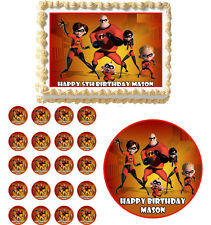 THE INCREDIBLES Edible Cake Topper Cupcake Image Decoration Birthday Party
