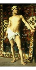 """GEETERE """"Harem Guard"""" BARE-CHESTED loin cloth sword headscarf carpet NEW CANVAS"""