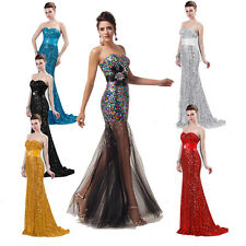 Luxury Sparkle Mermaid Bridesmaid Evening/Formal/Ball Gown/Party/Prom Long Dress