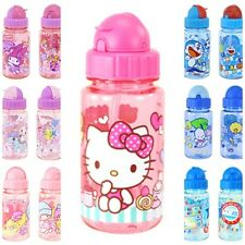 SANRIO KITTY POCHACCO MELODY DORAEMON 350ML BPA FREE WATER BOTTLE W/ STRAW 5732