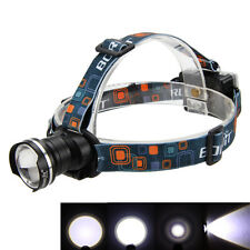 2000Lm CREE XML T6 LED Zoomable Lampe Phare Frontale 3x AA Headlamp Lumière Velo