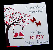 """Large 8""""x8"""" Personalised Wedding Anniversary Card 25th 30th 40th 45th 50th 60th"""