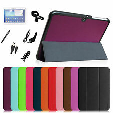 """For Samsung Galaxy Tab 3 10.1"""" Tablet Slim Smart Stand Case Cover + Accessories"""