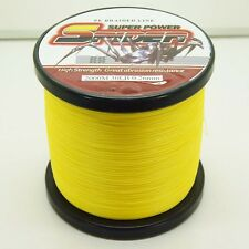 2000M/2187yds Yellow 6LB-100LB Super Strong Dyneema PE Braided Fishing Line,NEW