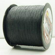 2000M/2187yds Black 6LB-100LB Super Strong Dyneema PE Braided Fishing Line,NEW