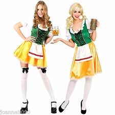 LADIES SEXY BEER GIRL WENCH OKTOBERFEST BAVARIAN WAITRESS FANCY DRESS COSTUME