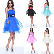 1 Bridesmaid Beaded Cocktail Prom Short Mini Gowns Formal Party Evening Dress