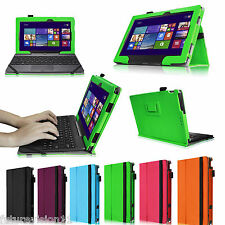 """For ASUS Transformer Book T100 Leather Folio Stand Case Cover 10.1"""" 10"""" Inch"""