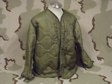 USGI M-65 Field Jacket Liner Coat Insert Quilted Olive Drab Green Army Surplus