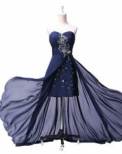 Sexy Women Cocktail Beaded Party Formal Evening Ball Prom Dresses Wedding Gown