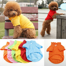 NEW Summer Various Pet Puppy Small Dog Cat Pet Clothes POLO T Shirt Apparel XS-L