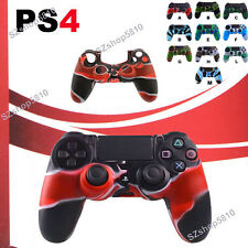Camo Silicone Case Skin Grip Rubber Cover For Sony PlayStation 4 PS4 Controller