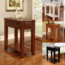Living Modern Style Wood Accent Chair Side End Stand Table Storage Shelf Drawer